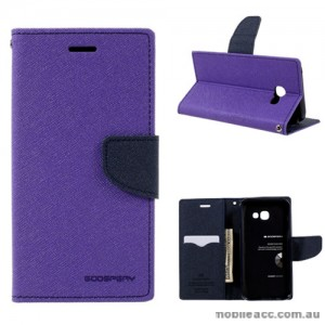 Mercury Goospery Fancy Diary Wallet Case For Samsung Galaxy A3 2017 Purple