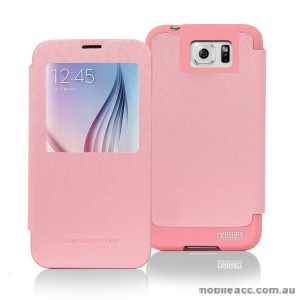 Korean Mercury WOW View Cover for Samsung Galaxy Note 5 Light Pink