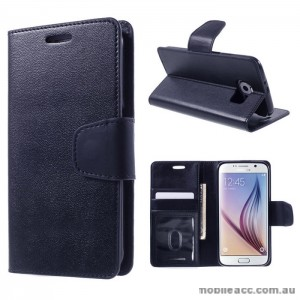 PU Leather Wallet Case for Samsung Galaxy S6 Edge Plus Blue