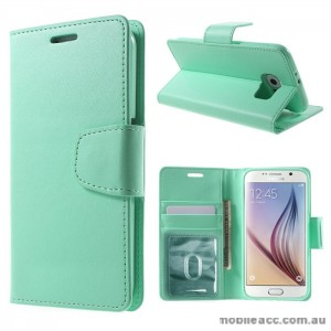 PU Leather Wallet Case for Samsung Galaxy S6 Edge Plus Green