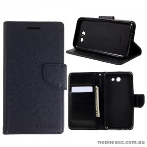 Mooncase Stand Wallet Case For Samsung Galaxy J3 Prime Black