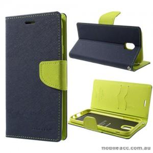 Korean Mercury Fancy Diary Wallet Case For Samsung Galaxy J5 Pro - Navy