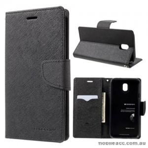 Korean Mercury Fancy Diary Wallet Case For Samsung Galaxy J7 Pro - Black
