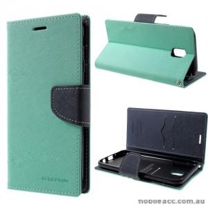 Korean Mercury Fancy Diary Wallet Case For Samsung Galaxy J7 Pro - Mint