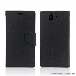 Mercury Goospery Fancy Diary Wallet Case for Sony Xperia Z - Black