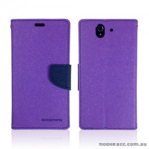 Mercury Goospery Fancy Diary Wallet Case for Sony Xperia Z - Purple