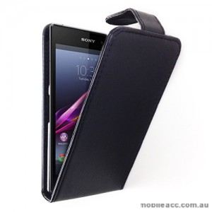 Synthetic Leather Flip Case for Sony Xperia Z1 L39h - Black