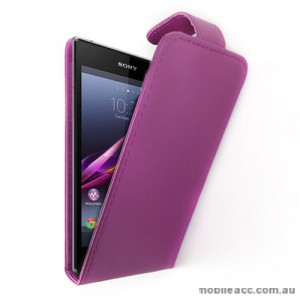Synthetic Leather Flip Case for Sony Xperia Z1 L39h - Purple