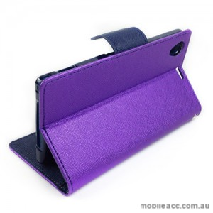 Mercury Goospery Fancy Diary Wallet Case for Sony Xperia Z1  - Purple