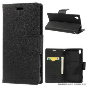 Korean Mercury Fancy Diary Wallet Case for Sony Xperia Z3 - Black