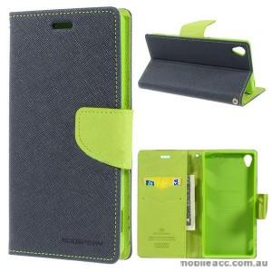 Korean Mercury Fancy Diary Wallet Case for Sony Xperia Z3 - Navy Blue