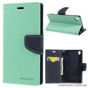 Korean Mercury Fancy Diary Wallet Case for Sony Xperia Z3 - Green