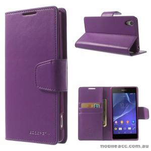 Korean Sonata Wallet Case for Sony Xperia Z3 - Purple