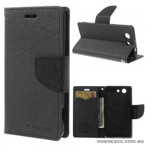 Korean Mercury Fancy Diary Wallet Case for Sony Xperia Z3 Compact Black
