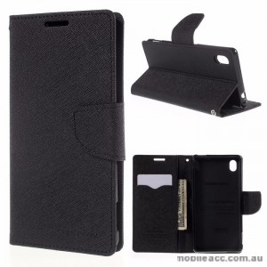 Korean Mercury Goospery Fancy Diary Wallet Case for Sony Xperia M4 Black