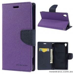 Korean Mercury Fancy Diary Wallet Case for Sony Xperia Z5 Purple