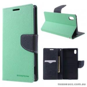 Korean Mercury Fancy Diary Wallet Case for Sony Xperia Z5 Green