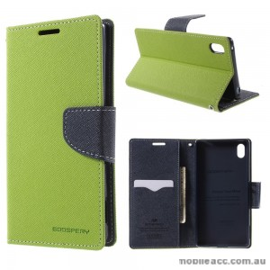 Korean Mercury Fancy Diary Wallet Case for Sony Xperia Z5 Compact Green