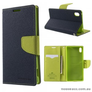 Korean Mercury Fancy Diary Wallet Case for Sony Xperia Z5 Compact Blue