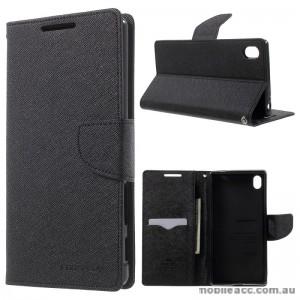 Korean Mercury Fancy Diary Wallet Case For Sony Xperia Z5 Premium Black