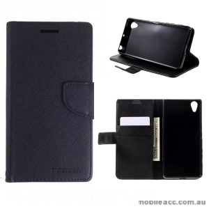 Mooncase Stand Wallet Case For Sony Xperia X - Black