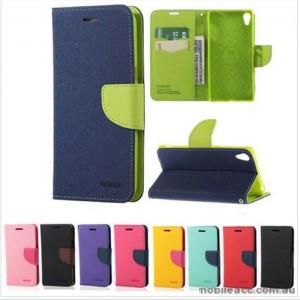 Korean Mercury Fancy Diary Wallet Case For Sony Xperia XA - Black