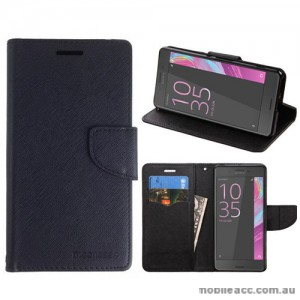 Mooncase Stand Wallet Case For Sony Xperia XA1 - Black