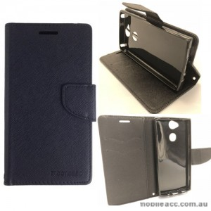Mooncase Stand Wallet Case For Sony Xperia XA2 - Black
