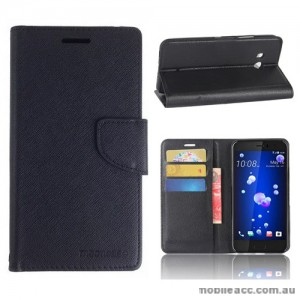 Mooncase Stand Wallet Case For HTC U11 - Black