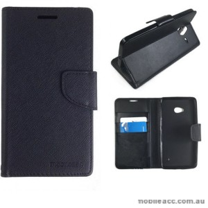 Mooncase Stand Wallet Case For Microsoft Lumia 640 - Black