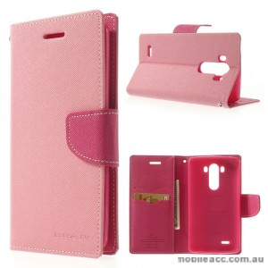 Mercury Fancy Diary Wallet Case for Moto X play Pink