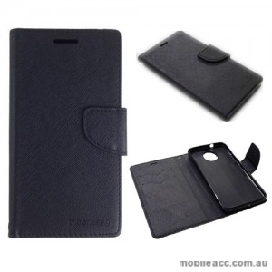 Mooncase Stand Wallet Case For Motorola Moto G5S Plus - Black