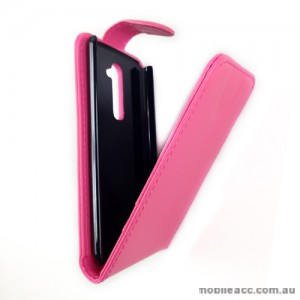Synthetic Leather Flip Case for LG G2 D802 - Hot Pink