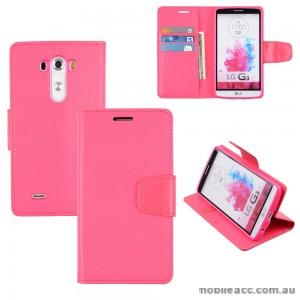 Korean Mercury Sonata Wallet Case for LG G3 - Hot Pink