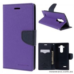 Korean Mercury Fancy Diary Wallet Case Cover LG G4 - Purple
