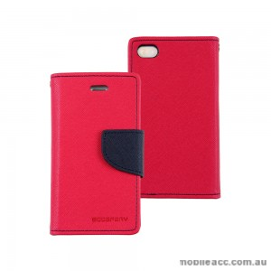 Mercury Goospery Fancy Diary Wallet Case for iPhone 4 / 4S - Hot Pink