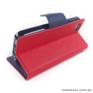 Mercury Goospery Fancy Diary Wallet Case for iPhone 5C - Red
