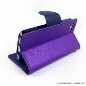 Mercury Goospery Fancy Diary Wallet Case for iPhone 5C - Purple