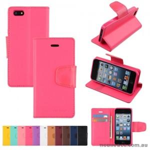 Mercury Goospery Sonata Diary Wallet Case for iPhone 5/5S/SE - Hot Pink