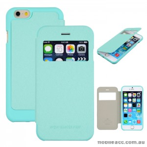Korean WOW Window View Flip Cover for iPhone 5/5S/SE - Green