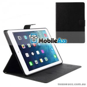 Mercury Goospery Fancy Diary Case for Apple iPad Air - Black