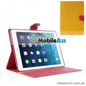 Mercury Goospery Fancy Diary Case for Apple iPad Air - Yellow