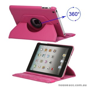 360 Degree Rotating Case for iPad mini / iPad mini 2 - Hot Pinkx2