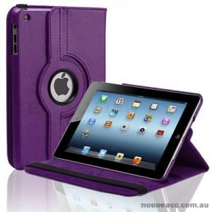 360 Degree Rotating Case for iPad mini / iPad mini 2 - Purplex2