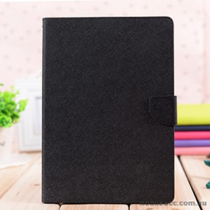 Korean Mercury Fancy Diary Wallet Case Cover for iPad Pro 9.7 Inch Black + SP
