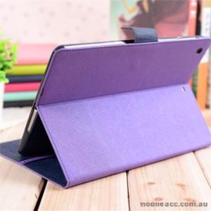 Korean Mercury Fancy Diary Wallet Case Cover for iPad Pro 9.7 Inch Purple+ SP