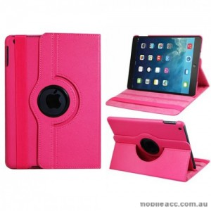 360 Degree Rotary Flip Case for iPad Mini 3 - Hot Pink X2