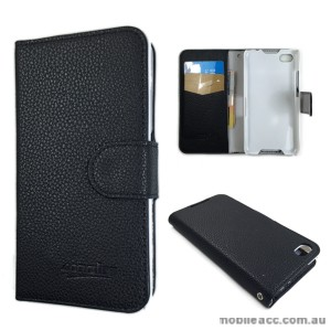 Synthetic Leather Wallet Case for Blackberry Z30 - Black/White