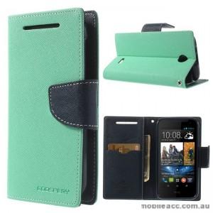 Korean Mercury Fancy Diary Wallet Case for HTC Desire 310 - Green