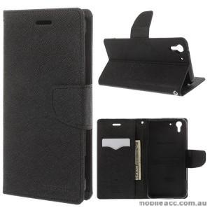 Korean Mercury Fancy Diary Wallet Case for HTC Desire Eye - Black